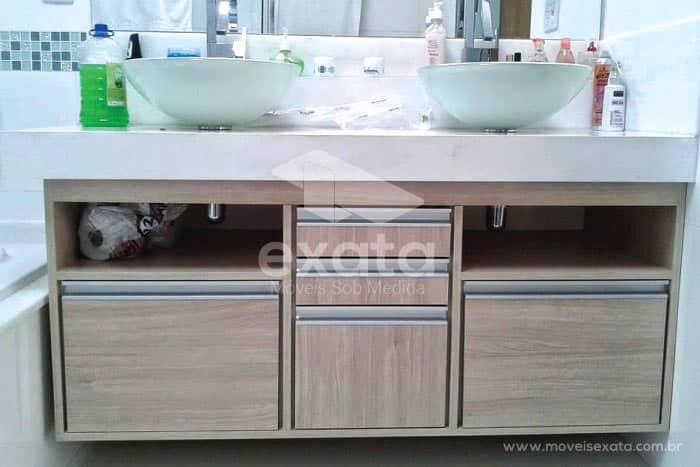 Gabinetes e Armários de Banheiro  Exata Fábrica de Móveis Planejados em Sã -> Gabinete De Banheiro Sp